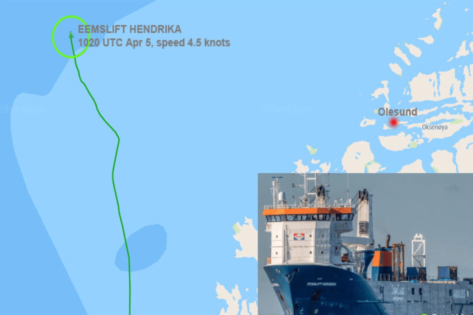 Dutch cargo ship in danger of capsizing, crew partially evacuated, Norwegian sea