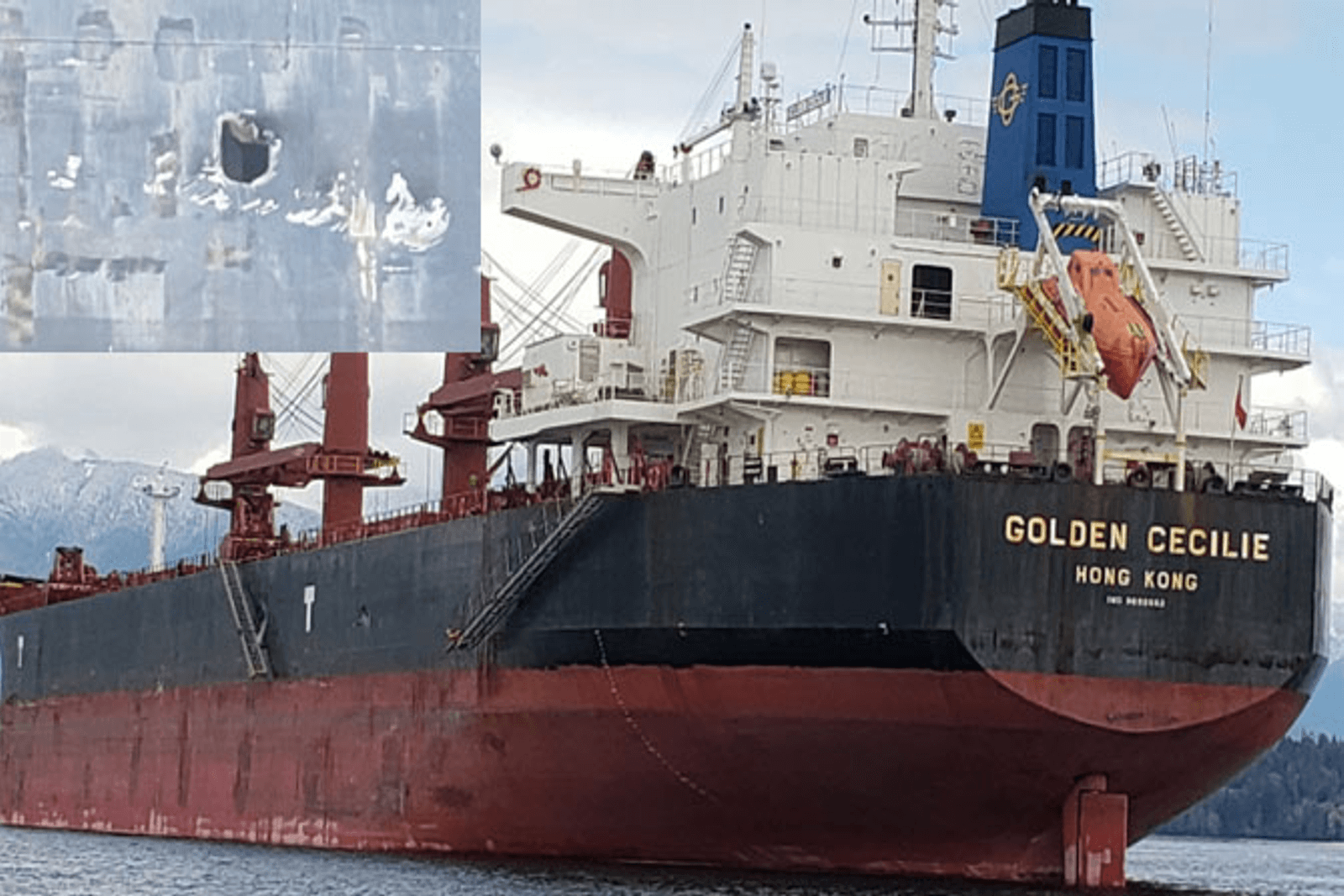 Bulk carriers collision, British Columbia