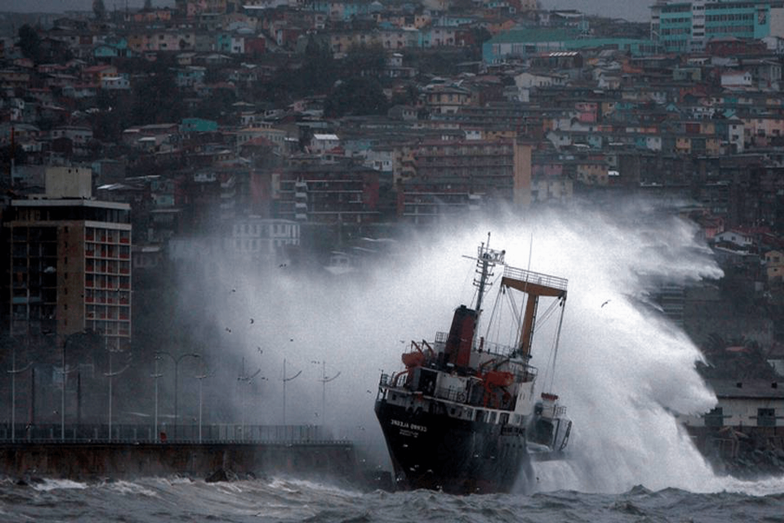 Extreme weather has become a real risk factor for shipping
