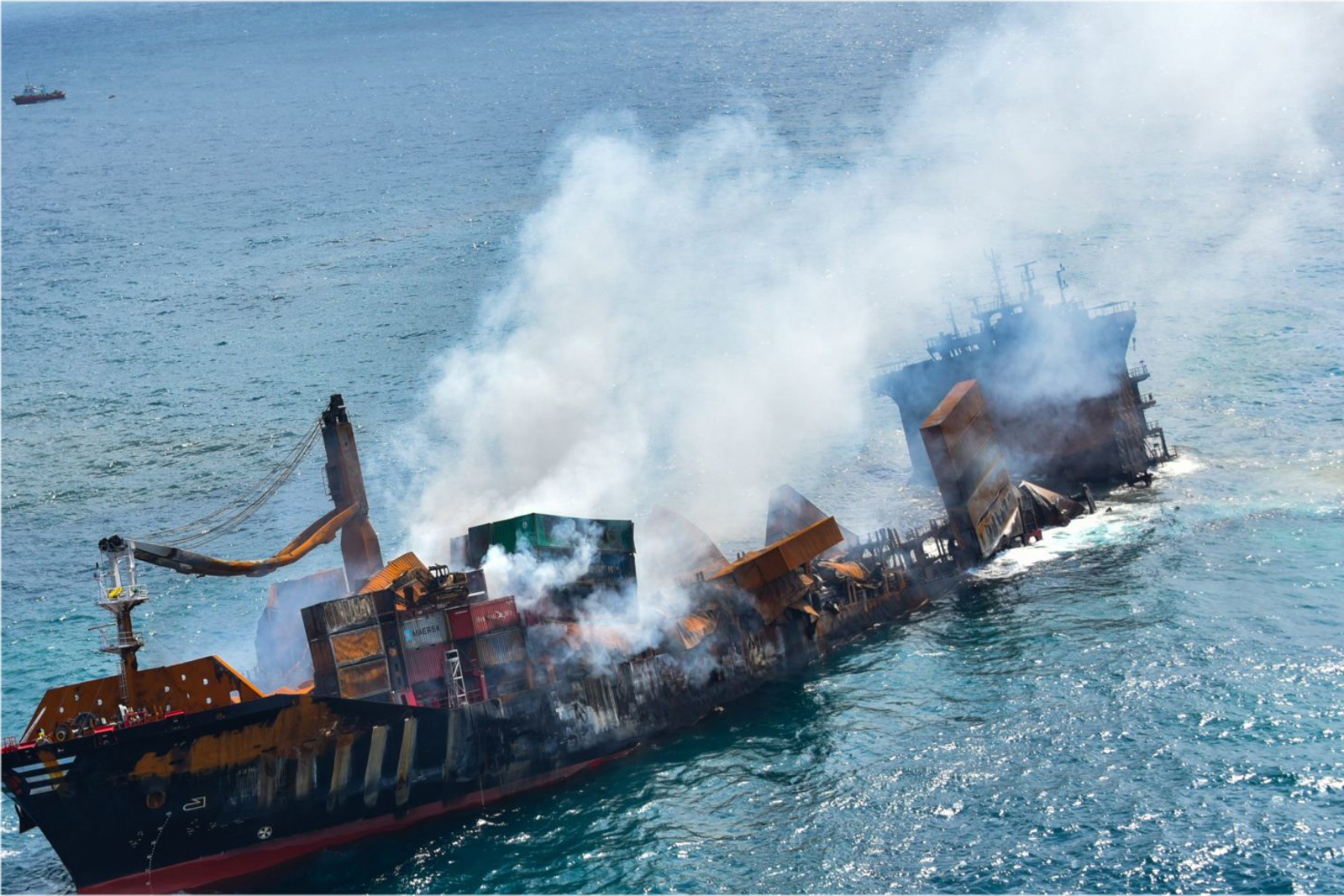 X-Press Pearl Partially Sinks Off Colombo